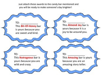 Awards to Use With a Candy Bar