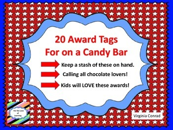 Awards to Use With With a Candy Bar