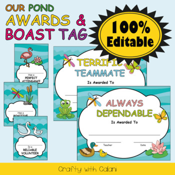 Awards and Brag Tags in Our Pond Theme - 100% Editable
