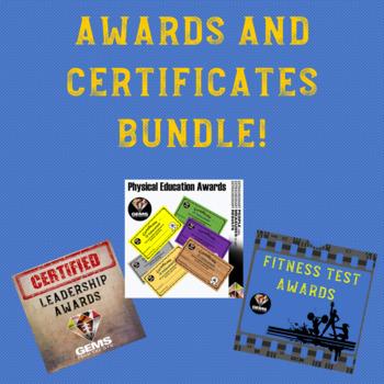 Awards and Certificates Bundle!