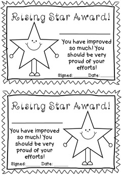Awards and Certificates - anytime of the year!
