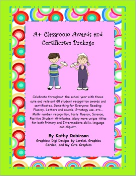 Awards and Certificates for All Through the Year