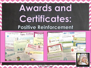 Awards and Certificates for Positive Reinforcement (Color