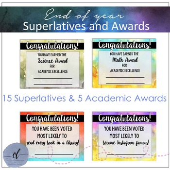 Awards and Superlatives