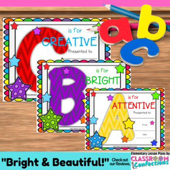 End of School Awards: Character Trait Awards for the End of the Year