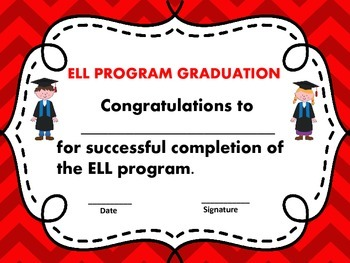 Free End of the Year ELL Awards