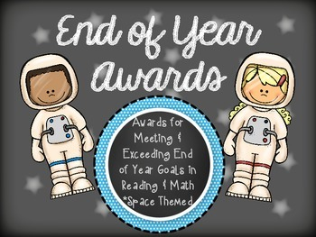 Awards for Meeting & Exceeding Goals - Space Themed