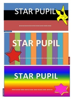 Awards for Star Pupil