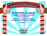 """Awards for Students: """"Two Thumbs Up"""""""
