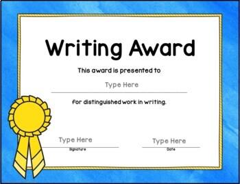 Classroom Awards: 52 Customizable Awards