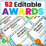 Editable Student Awards