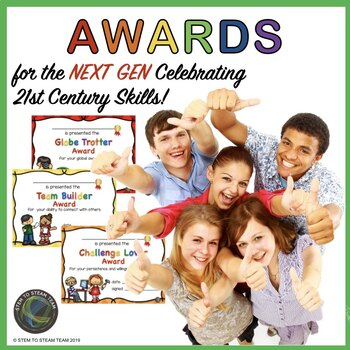 End of the year AWARDS:  Celebrating 21st Century Skills!
