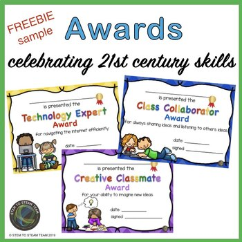Throughout the Year Awards Freebie:  Celebrating 21st Century Skills!