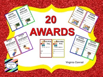 Awards with a School Theme--Weekly, Quarterly, End of Year, or Just Anytime