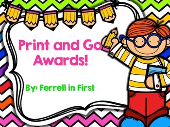 Awards/Certificates: Print and Go
