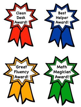 Awards~Behavior Ribbon Awards~Classroom Management