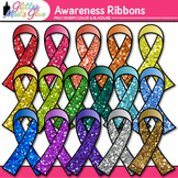 Awareness Ribbon Clip Art: Support Special Causes Graphics {Glitter Meets Glue}
