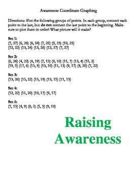 Awareness Ribbon Graphing Activity