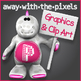 *Away With The Pixels Clip Art - Terms and Conditions and