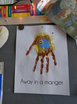 Away in a Manger Craft Sheet