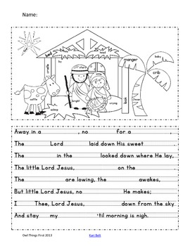 Away in a Manger - Freebie!