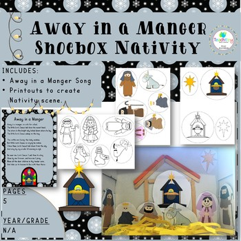 Away in a Manger Shoebox Nativity