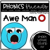 Awe Man O (Activities for learning short vowel o)