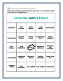 Awesome Author Bingo for Upper Elementary and Middle School Students