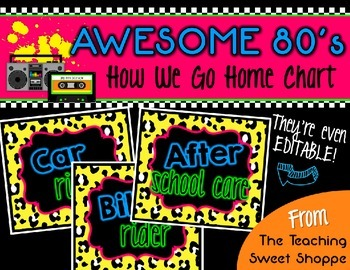 Awesome 80s How We Go Home Clip Chart - Editable