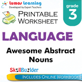 Awesome Abstract Nouns Printable Worksheet, Grade 3