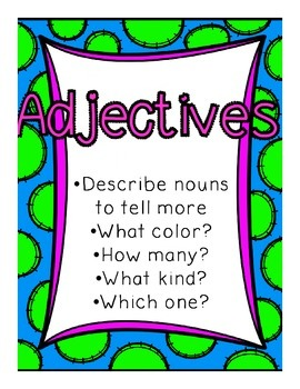 Adjective Unit {{2nd grade UPDATED}}