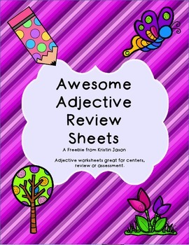 Awesome Adjective Worksheets