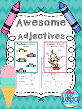 Adjectives Worksheet / Adjective Activities / Adjectives Practice