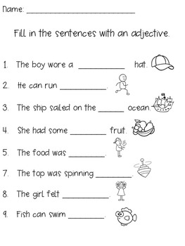 image relating to Adjectives Printable Worksheets named Adjectives Worksheet / Adjective Pursuits / Adjectives