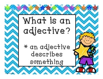 Adjectives - Awesome Adjectives - 3 Days of No Prep Activities - Grades 1- 3