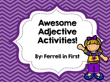 Adjectives Activities!