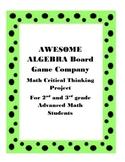 Awesome Algebra Board Game Project