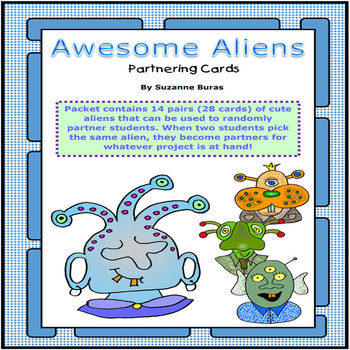 Awesome Aliens Partnering Cards
