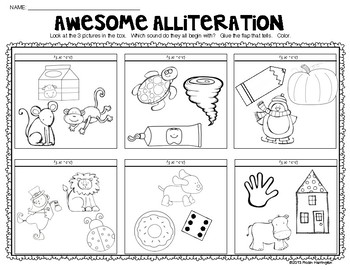 """""""Awesome Alliteration""""  {From A to Z} """"Lift the Flap"""" Activity!"""