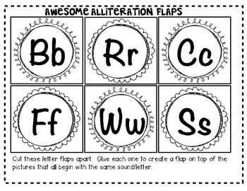 """Awesome Alliteration""  {From A to Z} ""Lift the Flap"" Activity!"