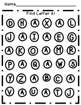 Alphabet Activities: Find & Dot the Letters!