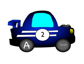 Awesome Alphabet Racecar Match