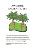 Awesome Ancient Egypt Questions and Extension Activities