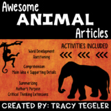 Awesome Animal Articles {10 Nonfiction Passages with Activities}
