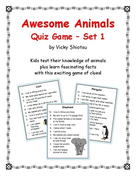 Awesome Animals Quiz Game Set 1
