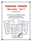 Awesome Animals Quiz Game Set 2