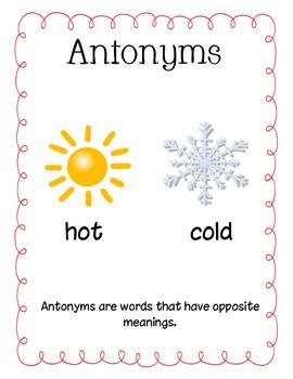 Awesome Antonym Match Up