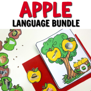 Awesome Apple Activities for Kindergartners Language Centers Pack