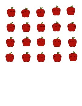 Awesome Apple Adding File Folder Game:  Missing Addends