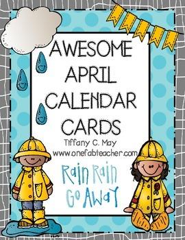 Awesome April Calendar Cards